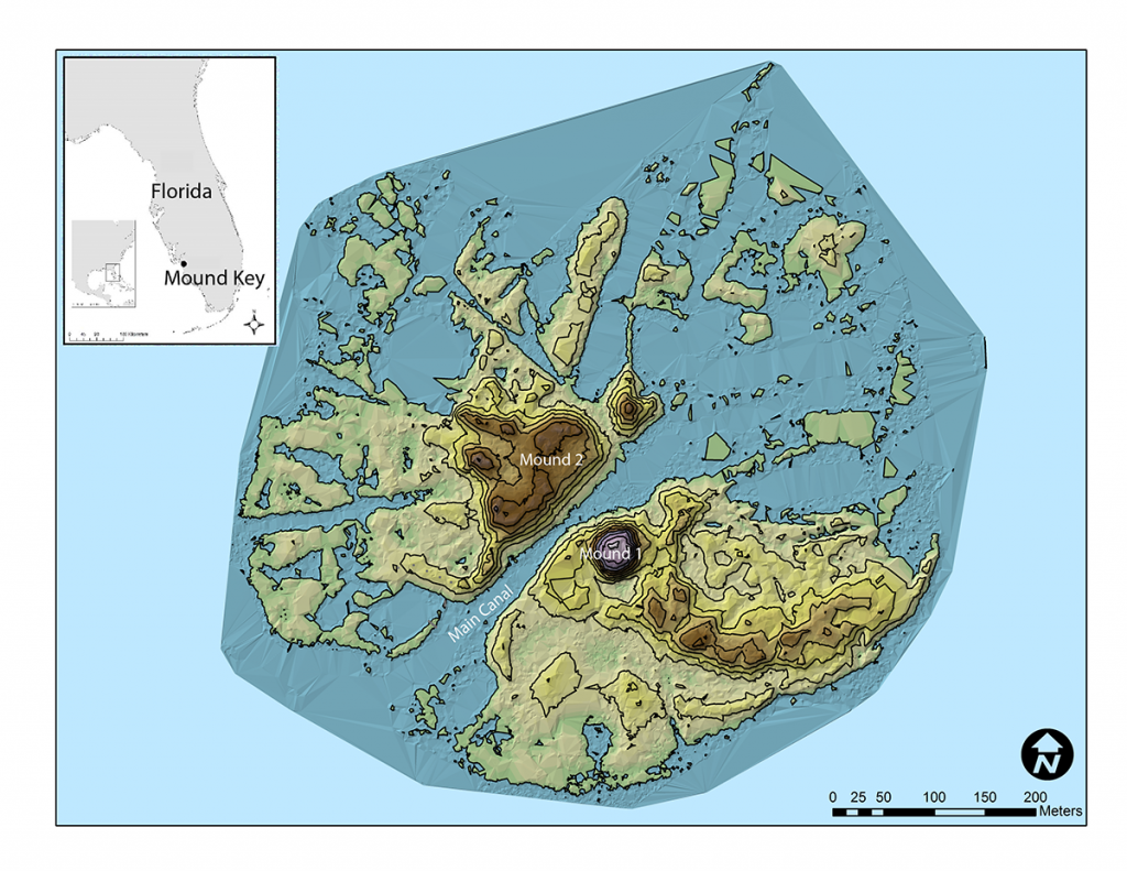 map of Florida's Mound Key
