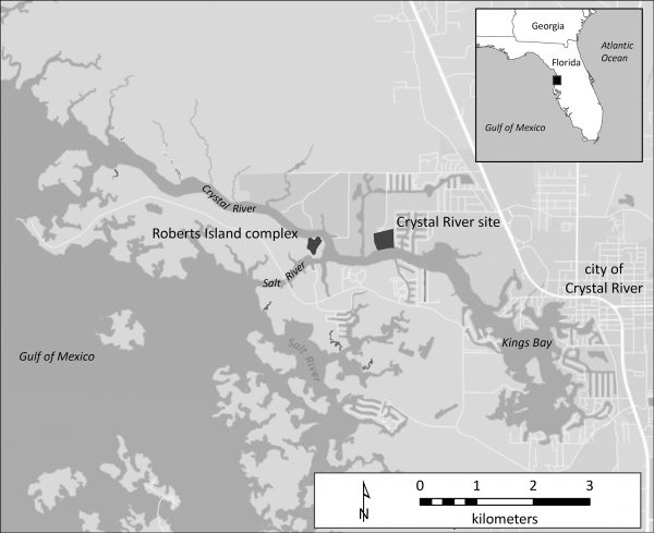 map of Crystal River and Roberts Island