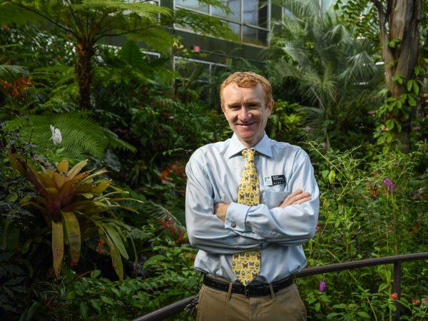 Keith Willmott in Butterfly Rainforest