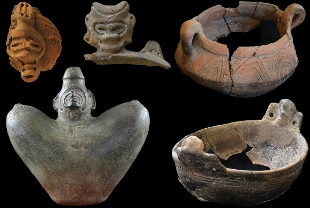 selection of ancient pots and figurines