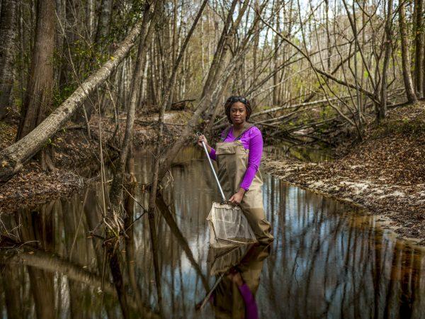 Adania Flemming in creek