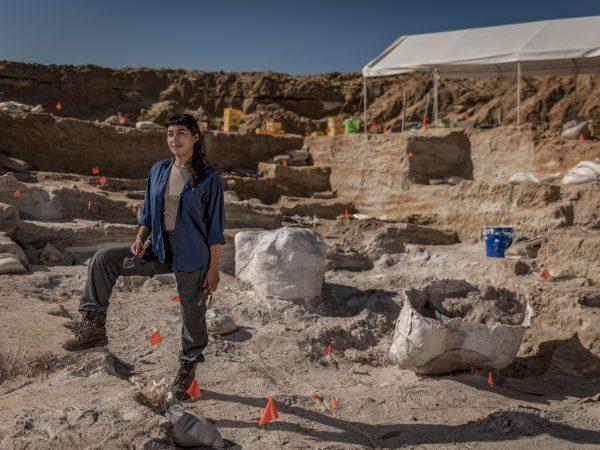 Michelle Barboza at fossil site