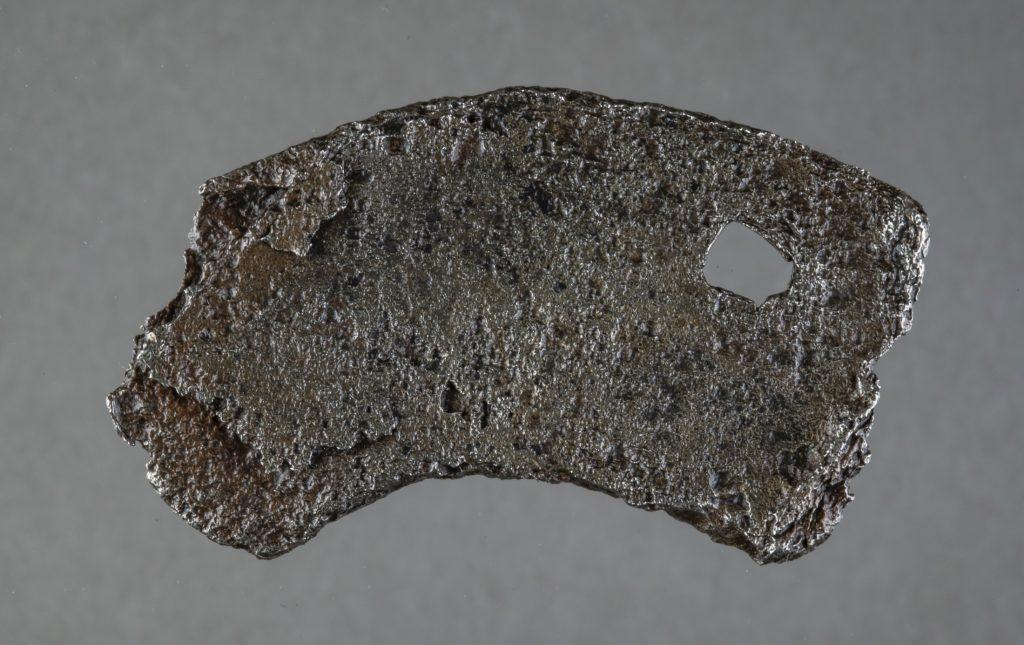 piece of iron horseshoe