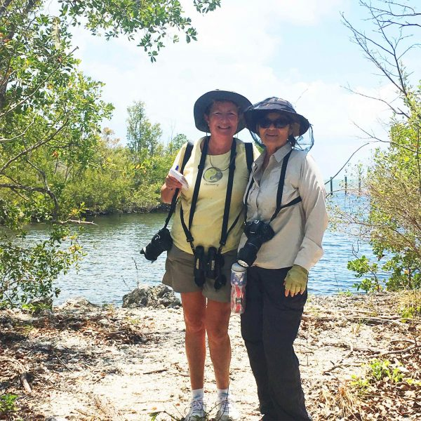Susan Kolterman and Mary Rose during a butterfly survey on Key Largo