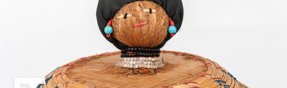 Sweetgrass Basket with Doll Lid