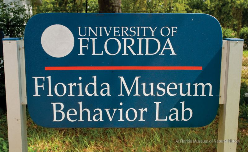 sign for the Museum's off-site lab
