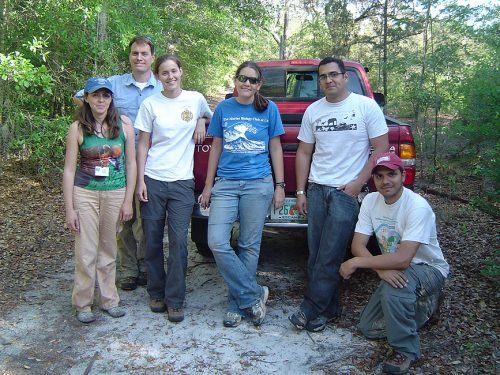 student group at a state park