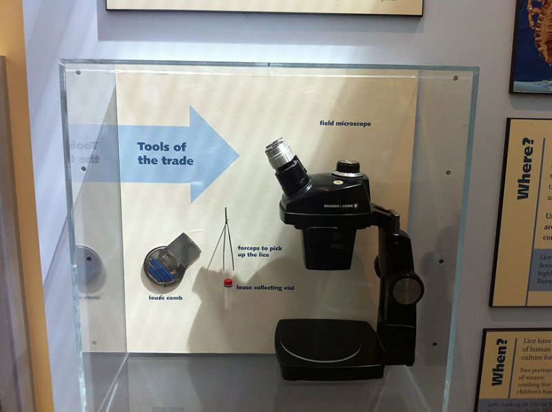 microscope in exhibit
