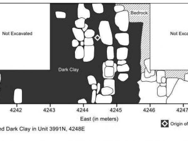 Plan view of clayey deposit from Nixtun Ch'ich'