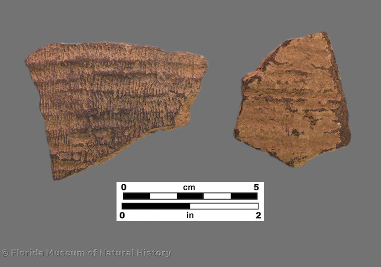 2 sherds with fine fabric impressions