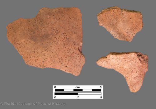 3 sherds of plain pottery