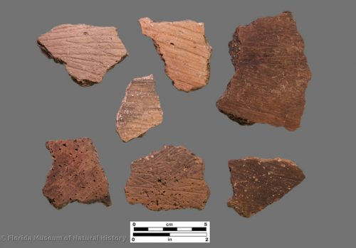 7 sherds with fine brush marks