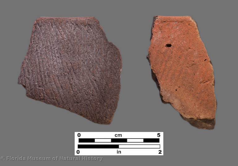 2 sherds with fine cord marking