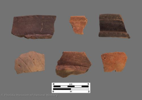 6 sherds with very fine engraving and punctation