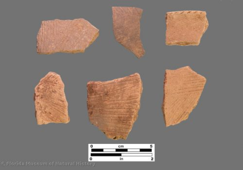 6 sherds with fine brushed surface