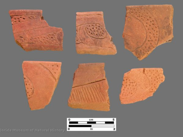 6 sherds with zoned punctation