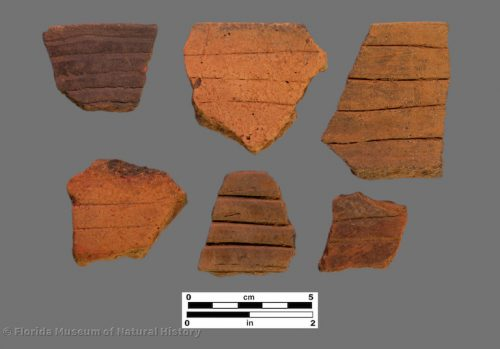 6 sherds with incised banding