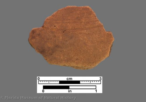 1 body sherd with light concentric engraved lines