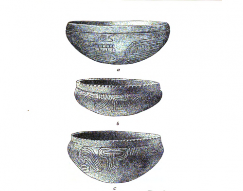 Illustrations of pottery bowls