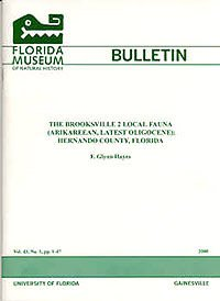 Florida Museum of Natural History Bulletin cover