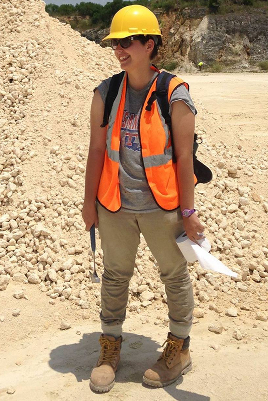 Carmi Milagros Thompson, Collection Manager of the Florida Museum Invertebrate Paleontology Collection