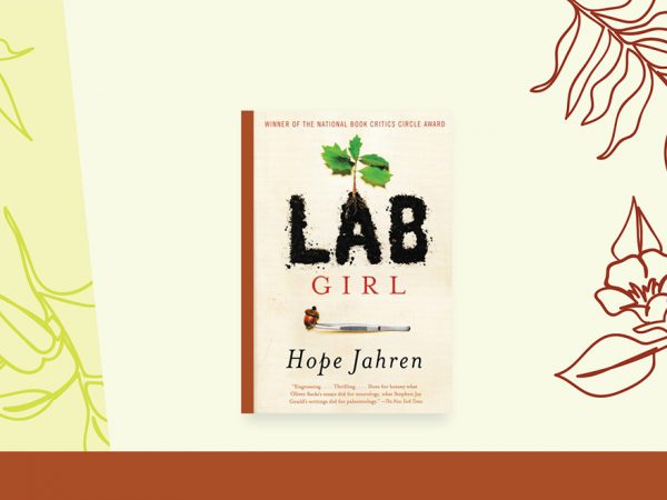 book cover for Lab Girl on stylized background