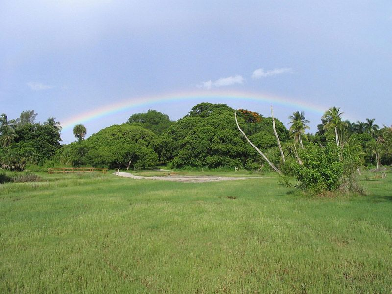 Rainbow over Brown's Mound, 2004