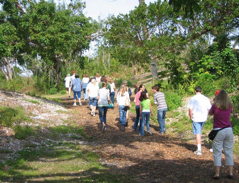 School tour on Calusa Heritage Trail