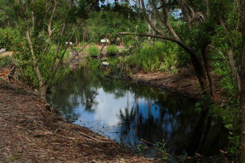 Calusa canal around Smith Mound