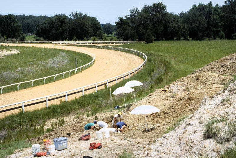 excavating near track