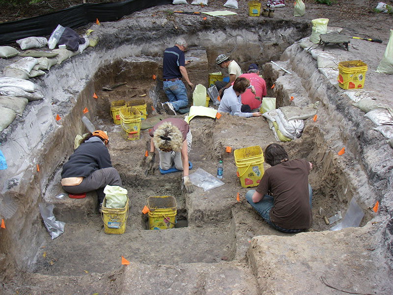 people digging