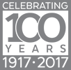 100th Anniversary logo, gray