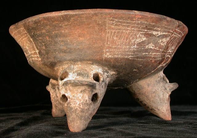 Engraved Tripod Bowl