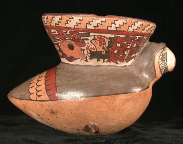 Parrot Effigy Jar