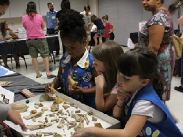 Girl Scouts at event