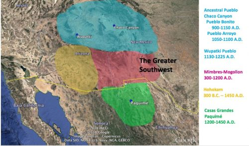 Map of the Greater Southwest