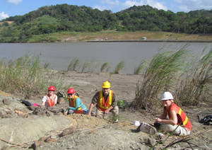 NSF-PIRE Panama Project: Collecting Miocene fossil vertebrates along the Panama Canal.
