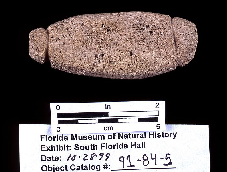 Sinker, limestone, A.D. 500-1500, Gordon's Pass Midden, Collier Co. (91-84-5)