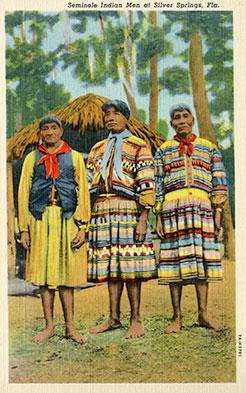 Figure 31: Three Seminole men wearing neckerchiefs (2013-6-9). Donated by Anne Reynolds.