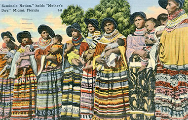 Figure 13: Seminole Women with hairboard hairstyle (2013-7-16). Donated by Austin Bell.