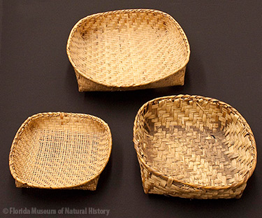 Figure 4: Sieve baskets, Miccosukee. Collected by John M. Goggin (3933-92917, 92907, 92903).