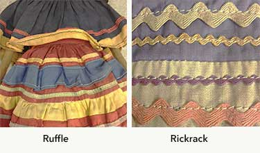 Figure 4: Ruffles and Rickrack
