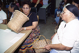 Figure 1: Elders of the Seminole Tribe of Florida visit to the Florida Museum, 1997.