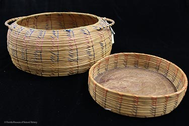Figure 5: Sweetgrass baskets, Seminole. Donated by Keith and Sara Reeves (2013-36-3, 2013-36-4).