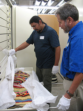 Figure 2: Visiting researcher Pedro Zepeda and Florida Museum curator William Marquardt, 2013.