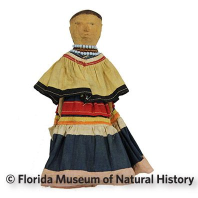 Figure 4: Female Seminole carved doll.