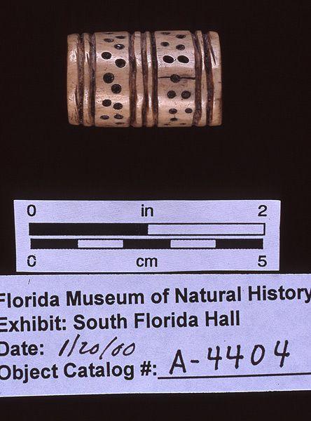 Bead, bone, A.D. 700-1500, Key Marco, Collier Co. (A-4404)