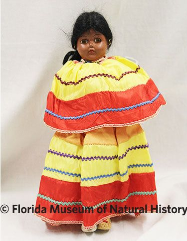 Figure 16: Skookum doll (2012-50-40) Plastic, polyester. Post 1950 27.46cm Donated by Anne Reynolds.