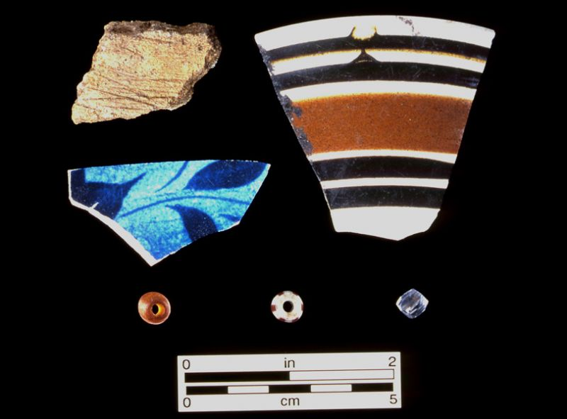 Miscellaneous ceramics and beads, ca. 1770-1900, Useppa Island, Lee Co.