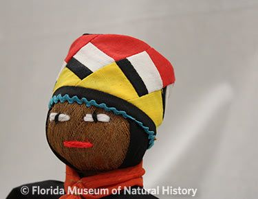 Figure 22: Male doll wearing turban with patchwork.